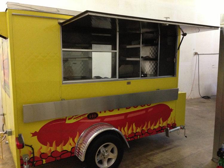 Customized hot dog trailer